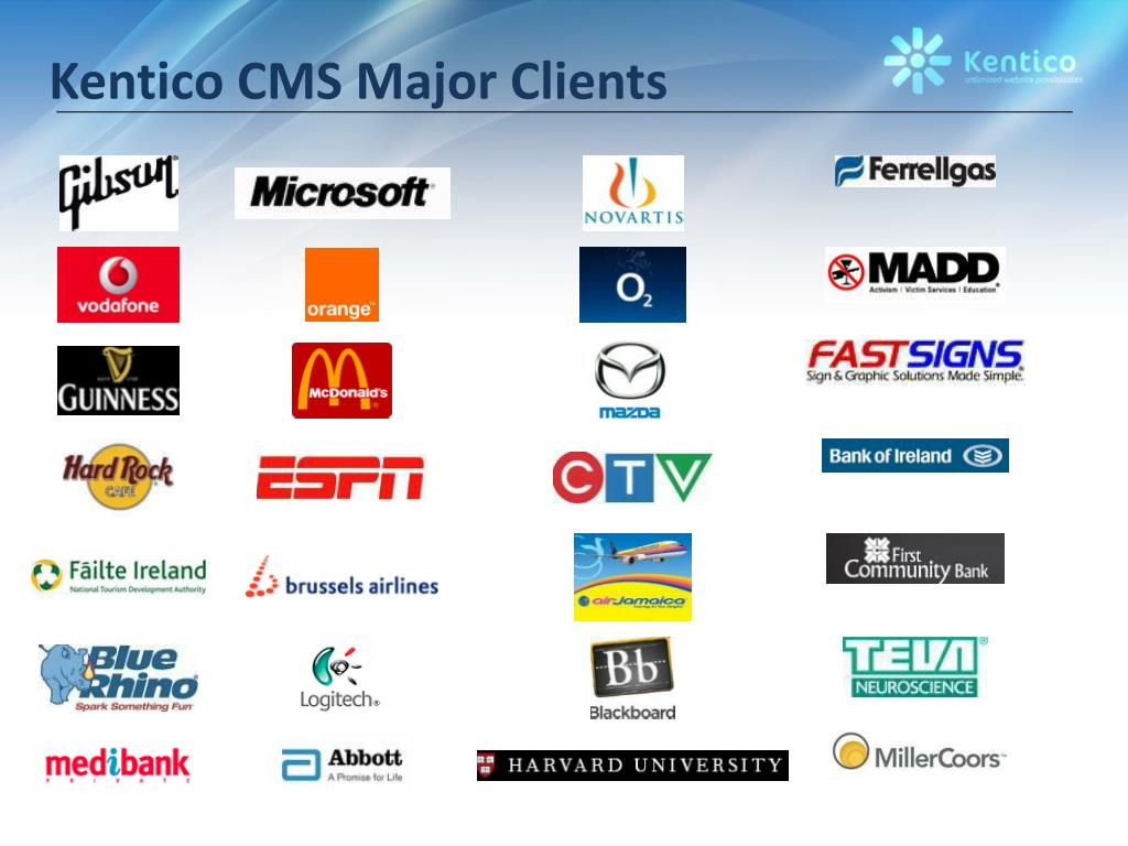 Kentico CMS Major Clients
