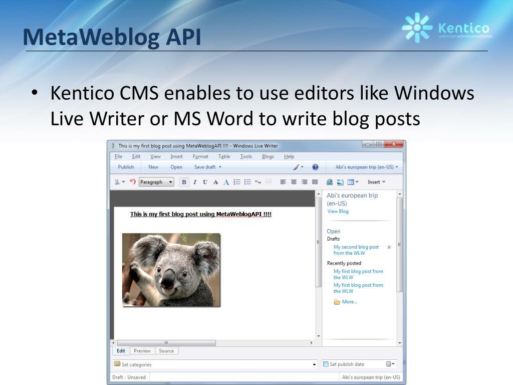 MetaWeblog API