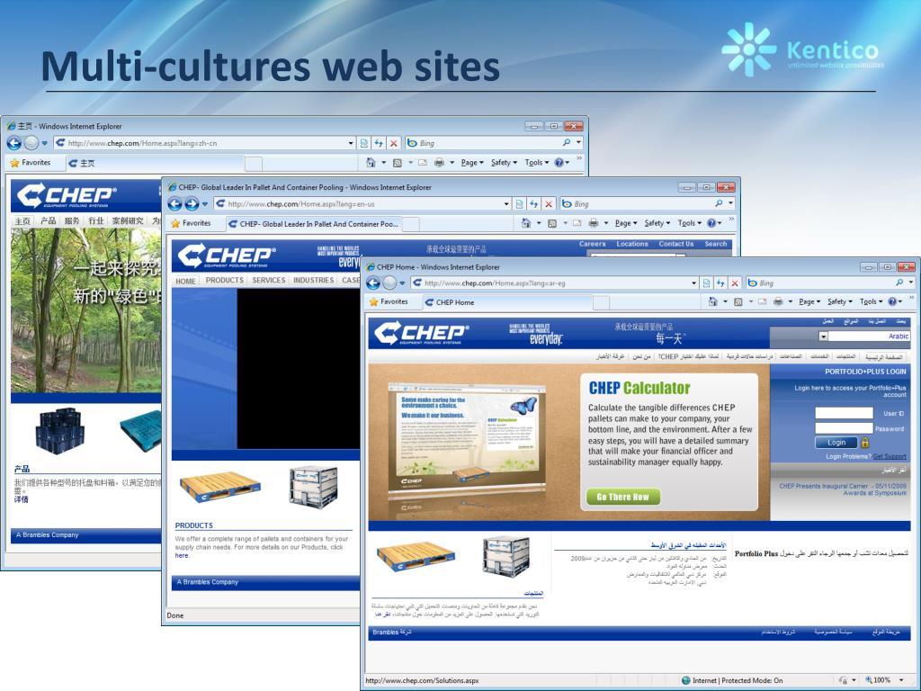 Multi-cultures web sites