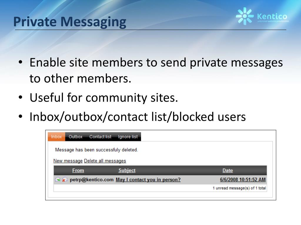 Private Messaging