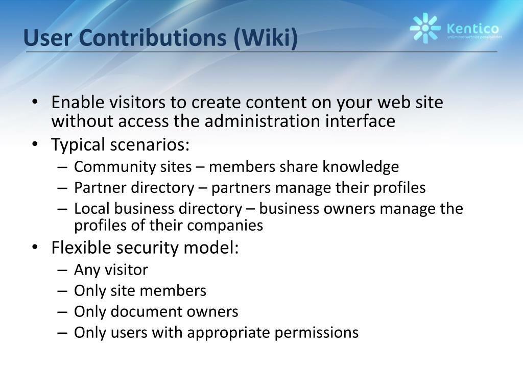 User Contributions (Wiki)
