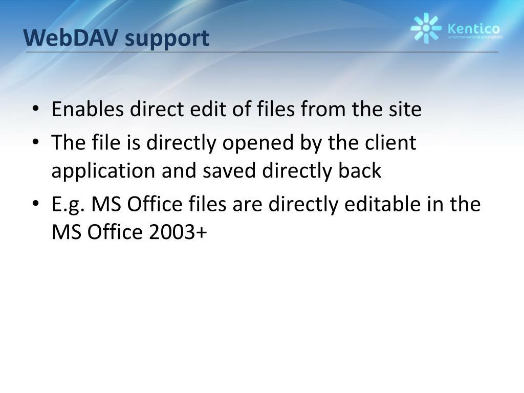 WebDAV support