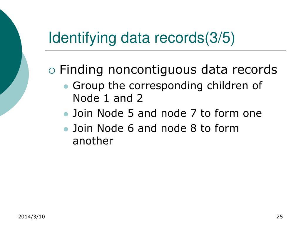 Identifying data records(3/5)