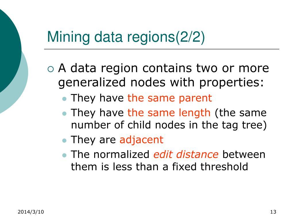 Mining data regions(2/2)