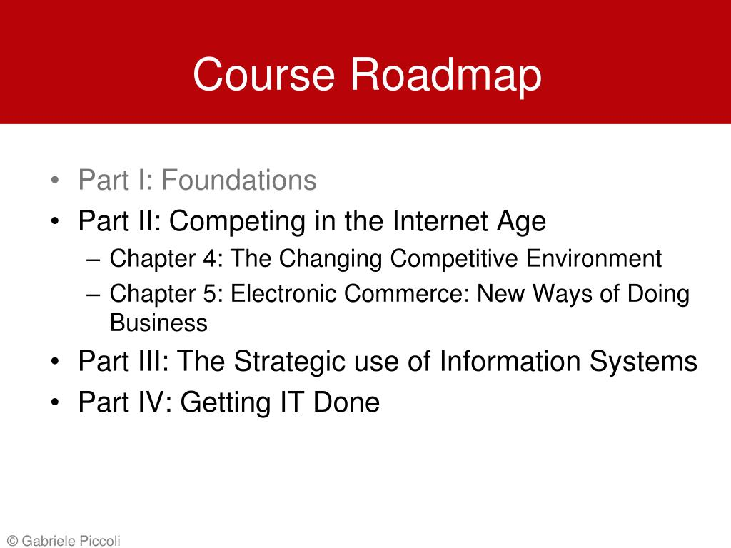 Course Roadmap