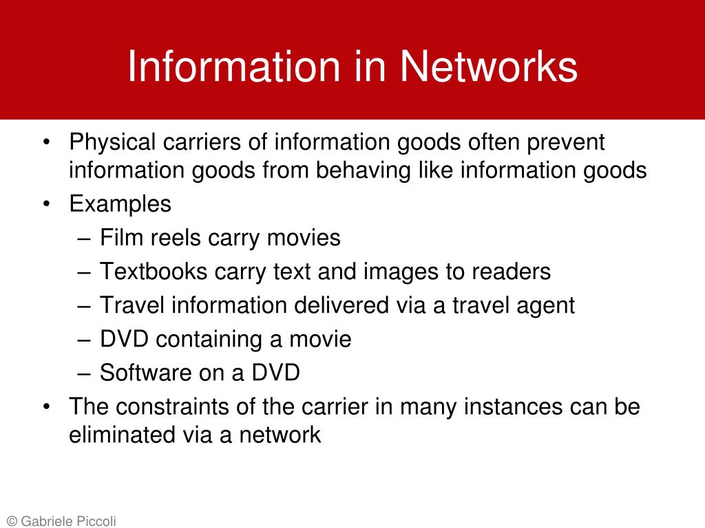 Information in Networks
