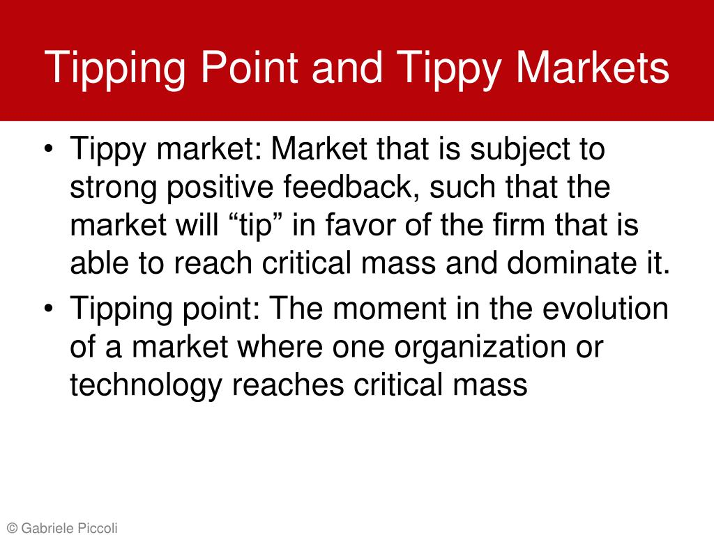 Tipping Point and Tippy Markets