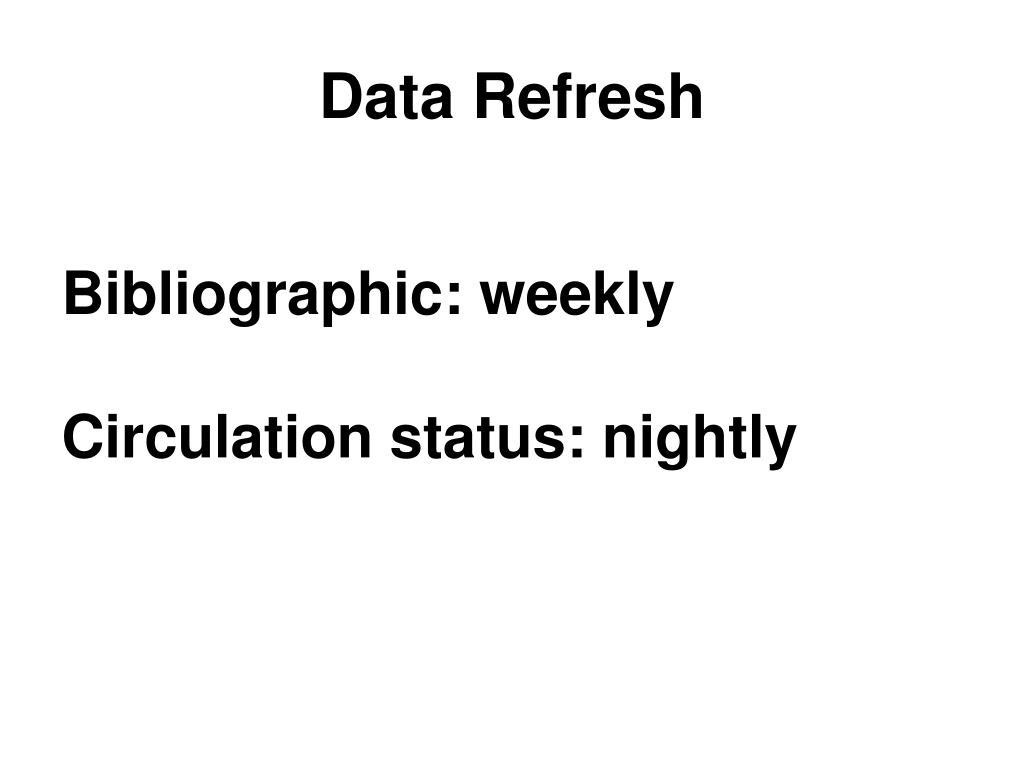 Data Refresh
