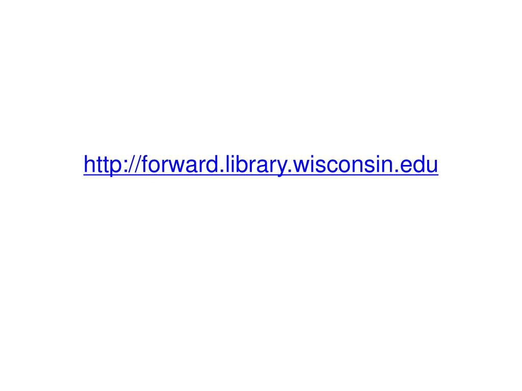 http://forward.library.wisconsin.edu
