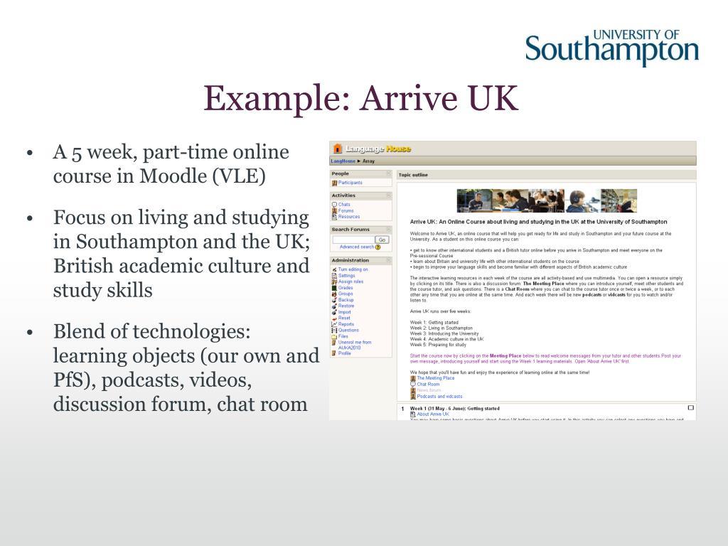 Example: Arrive UK