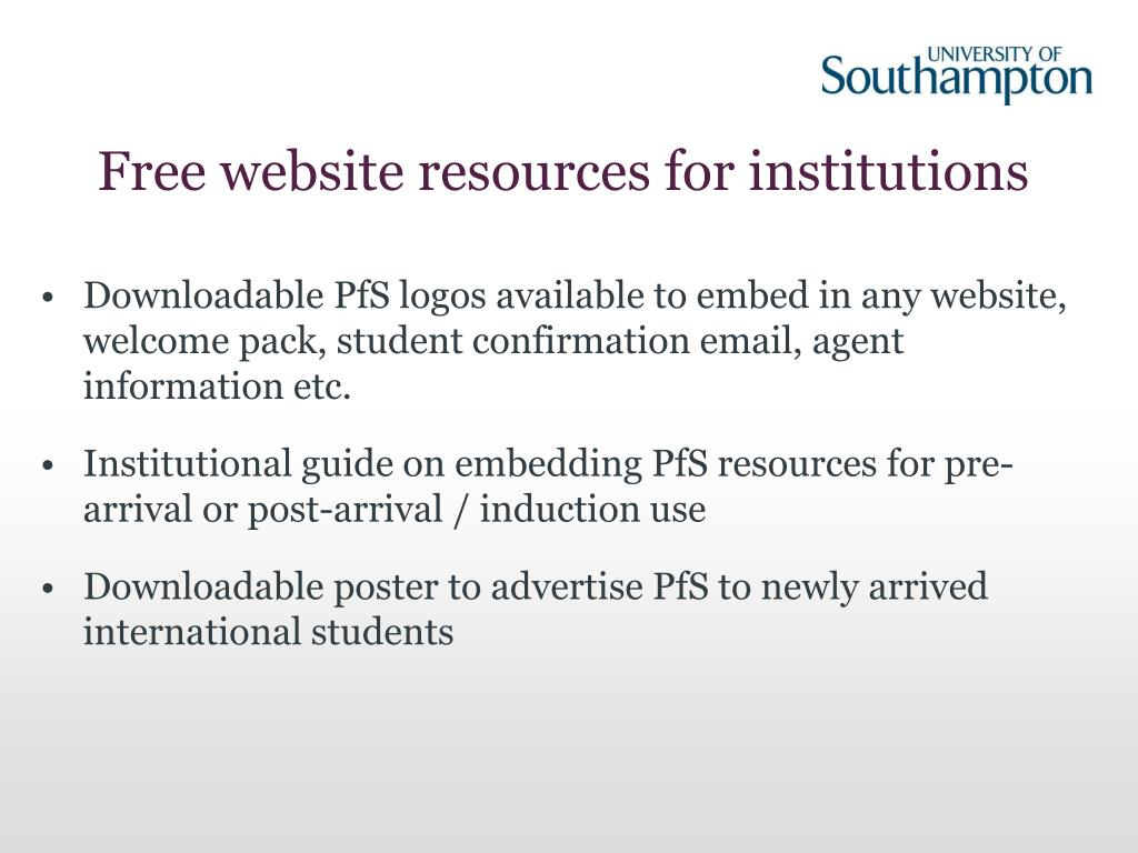 Free website resources for institutions