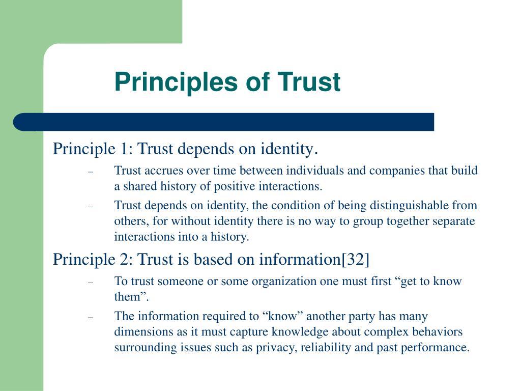 Principles of Trust