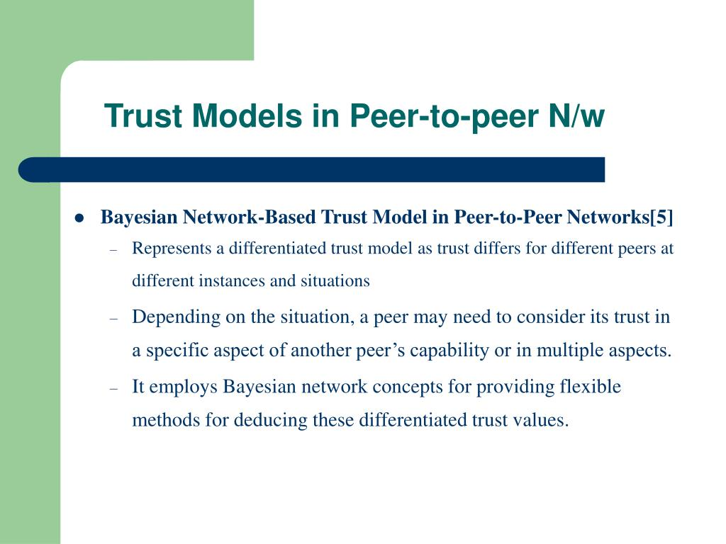 Trust Models in Peer-to-peer N/w
