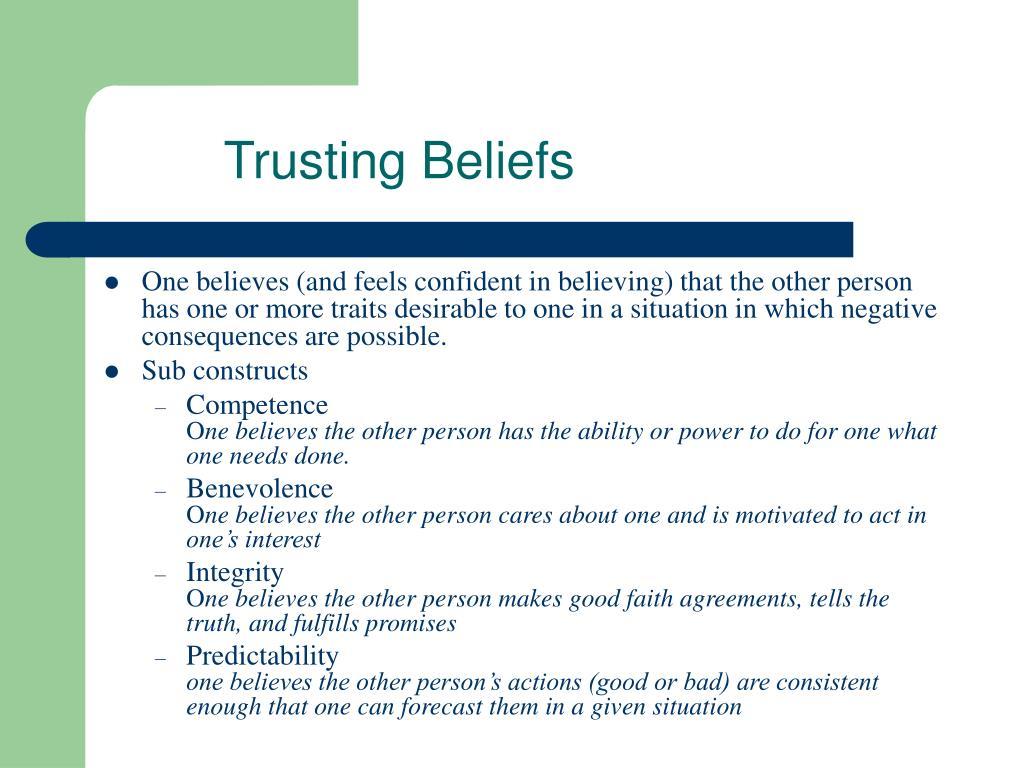 Trusting Beliefs