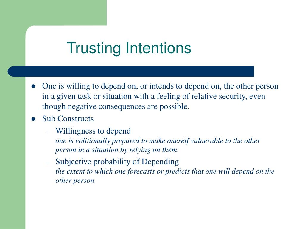 Trusting Intentions