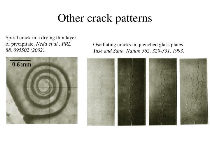 Other crack patterns