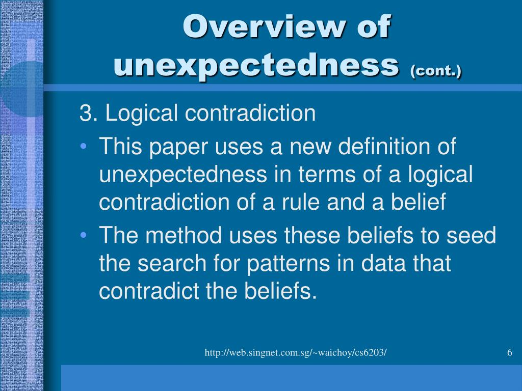 Overview of unexpectedness