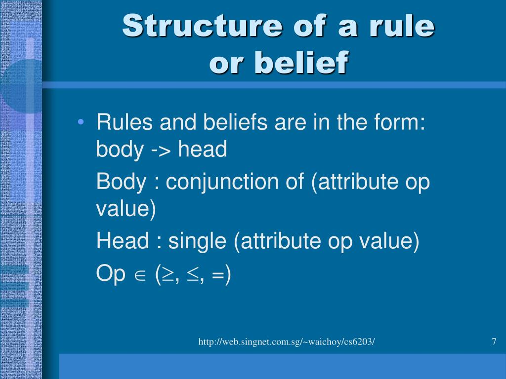Structure of a rule