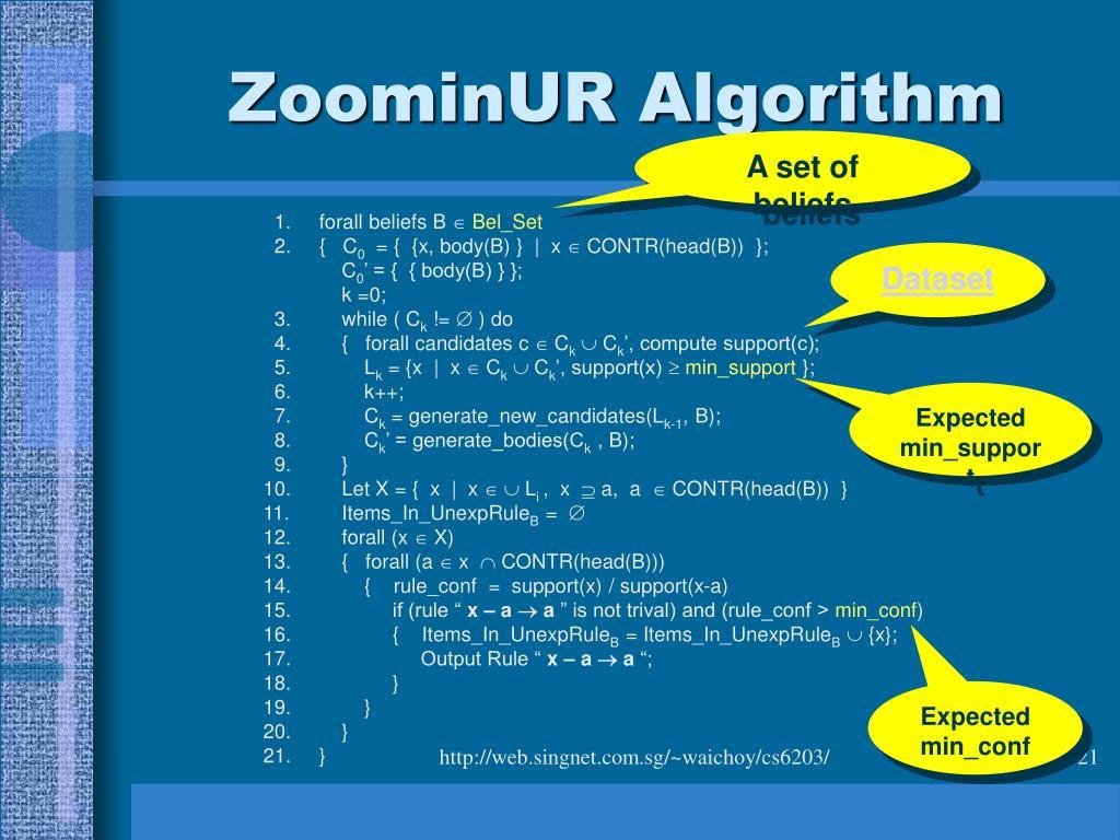 ZoominUR Algorithm