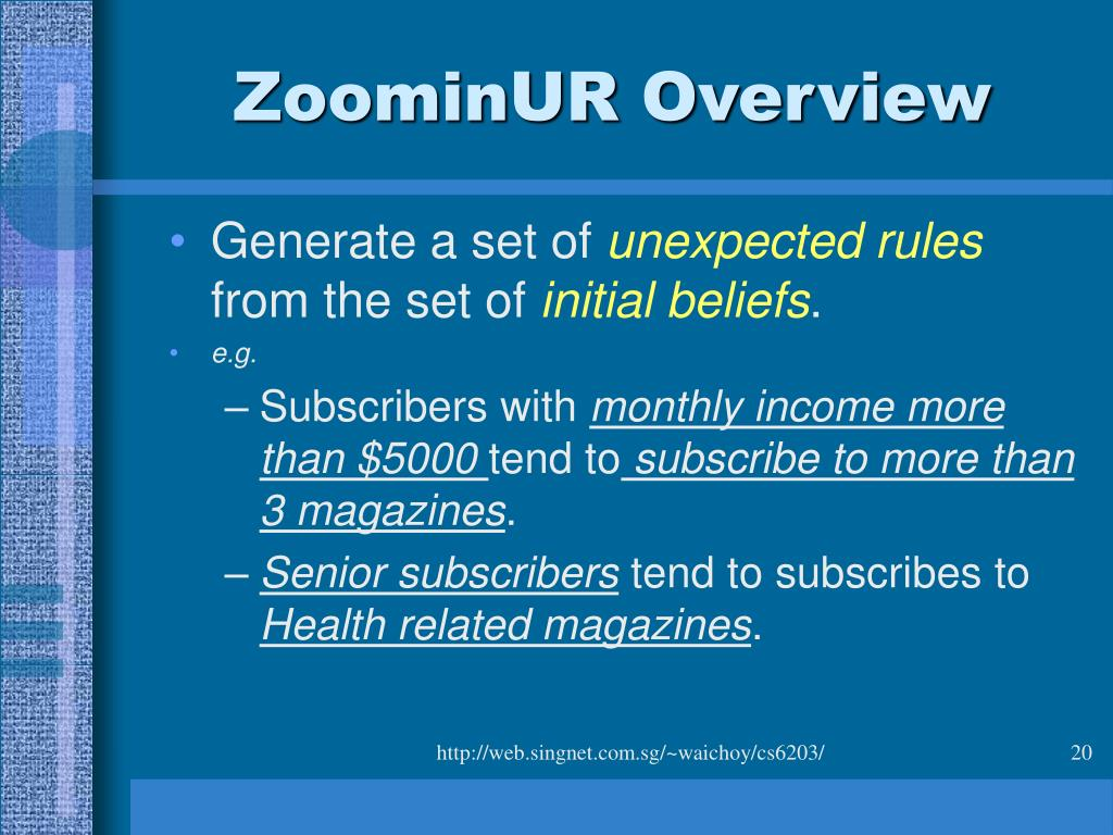 ZoominUR Overview