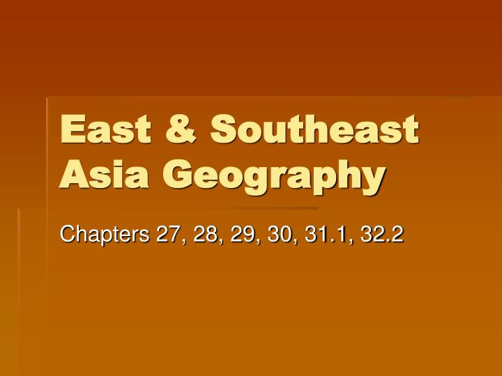 East southeast asia geography