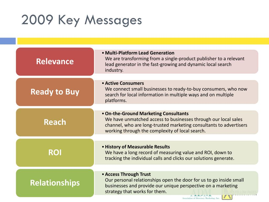 2009 Key Messages