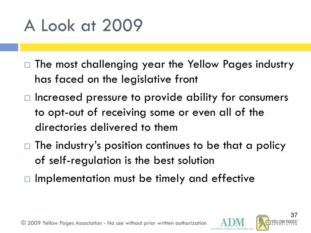 A Look at 2009