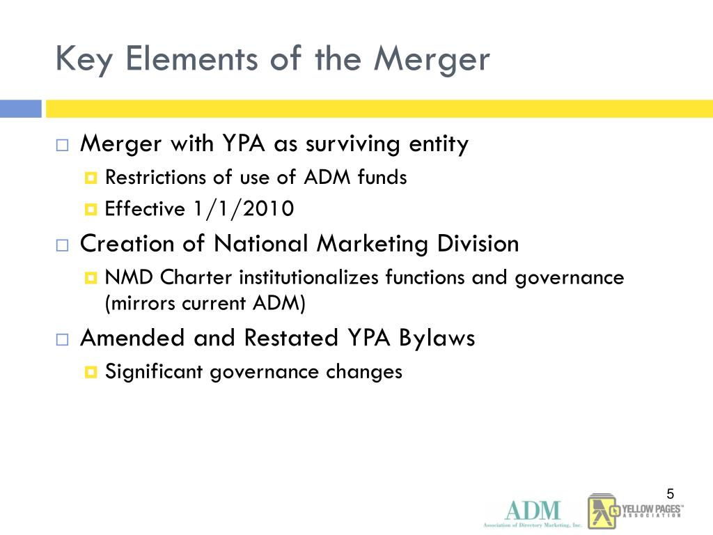 Key Elements of the Merger