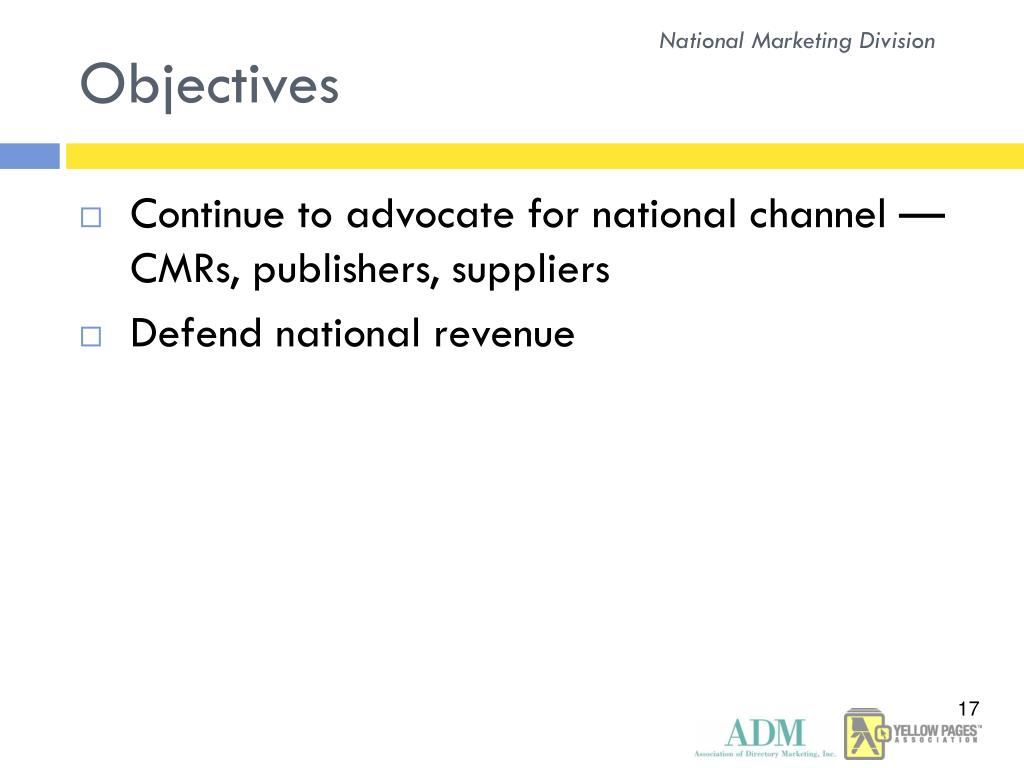 National Marketing Division