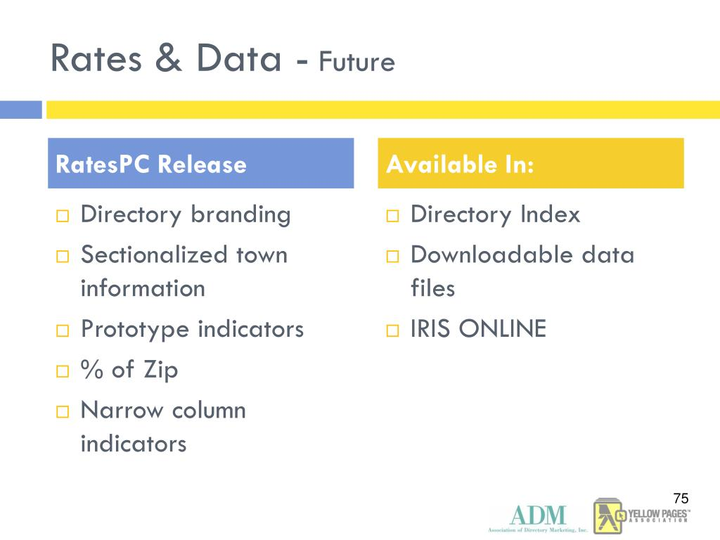 Rates & Data -