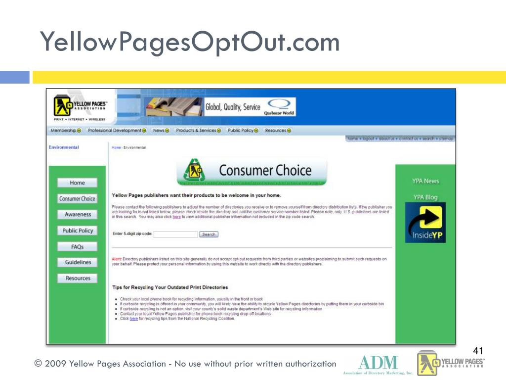 YellowPagesOptOut.com