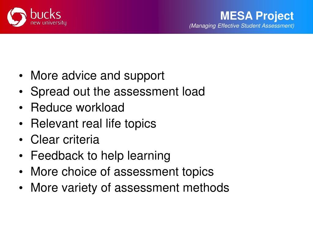 MESA Project