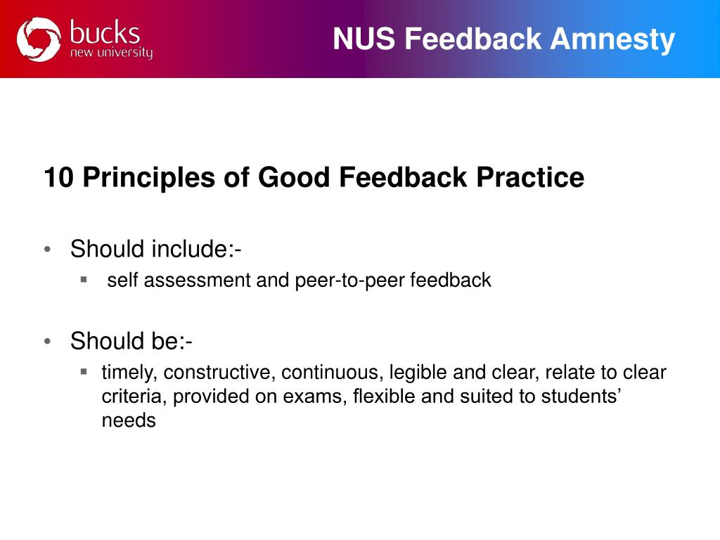 NUS Feedback Amnesty