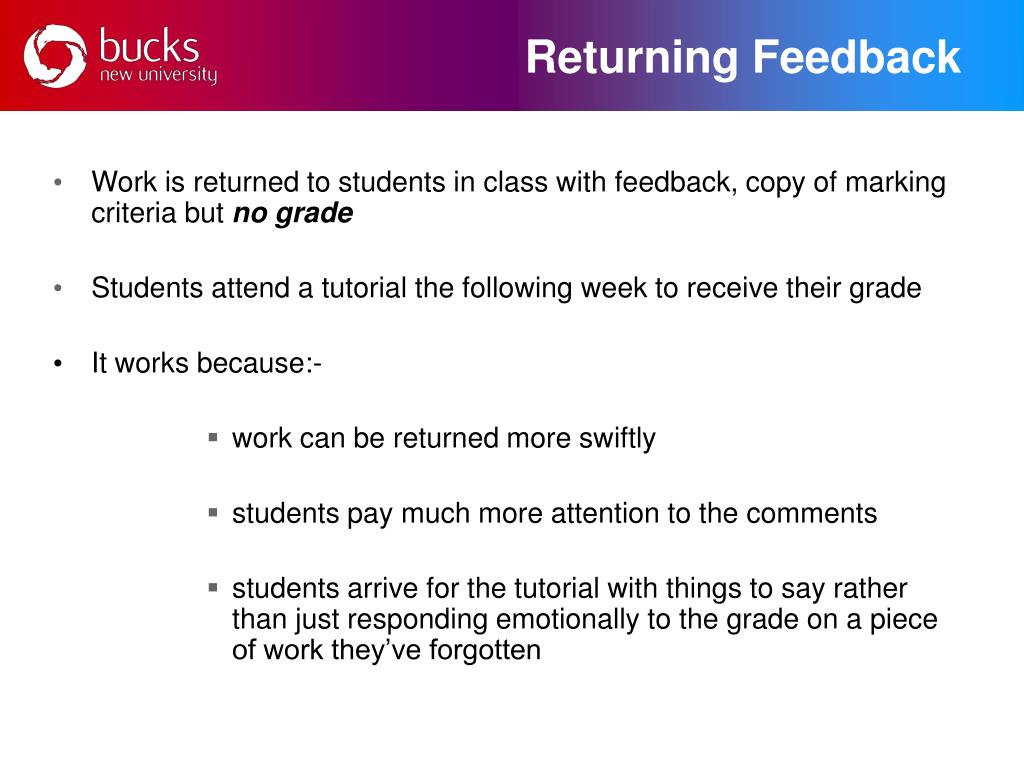 Returning Feedback