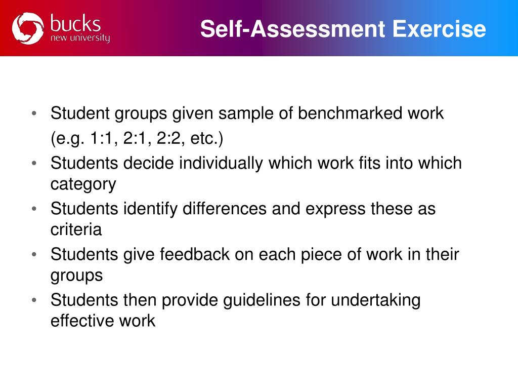 Self-Assessment Exercise