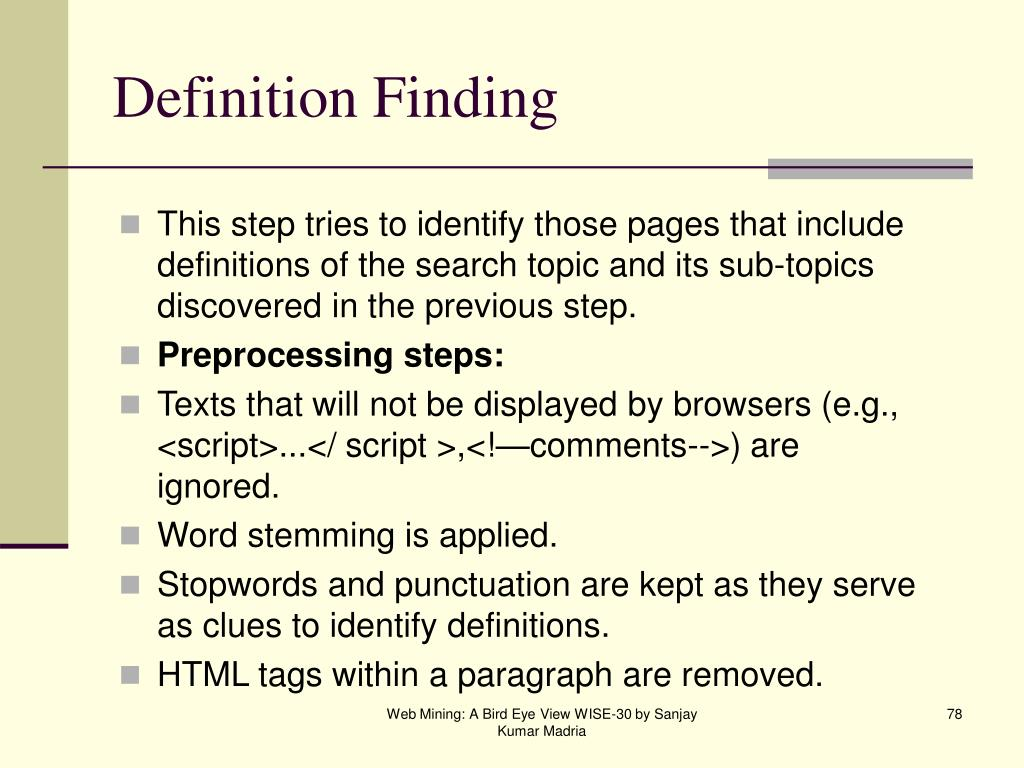 Definition Finding