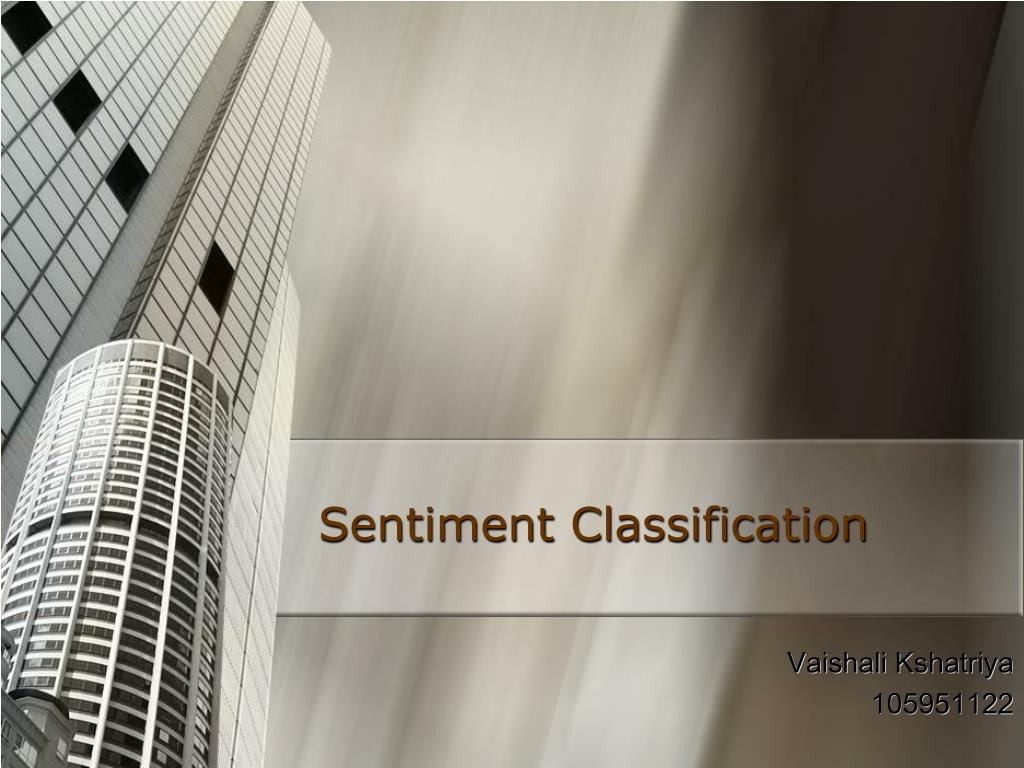 Sentiment Classification