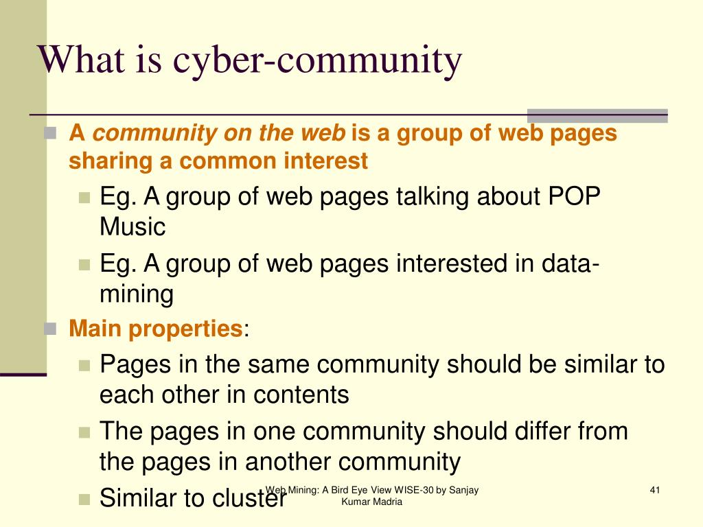 What is cyber-community