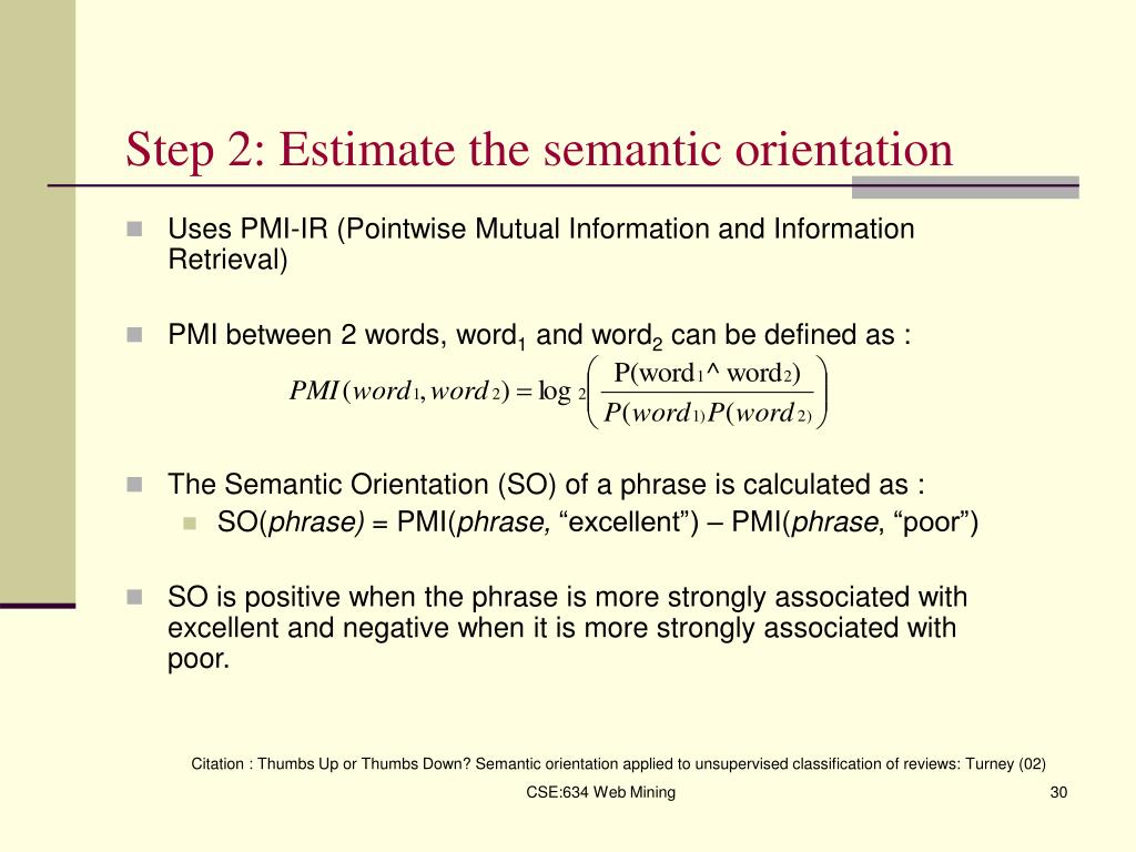 Step 2: Estimate the semantic orientation