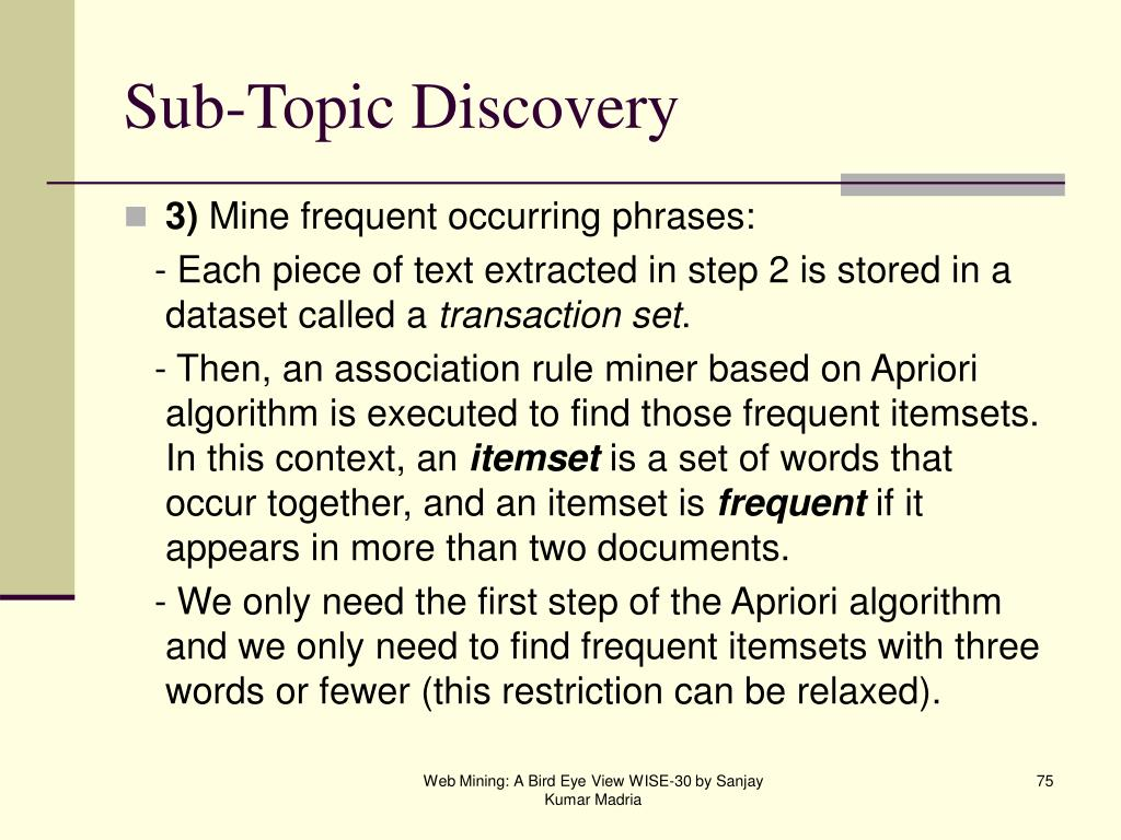 Sub-Topic Discovery