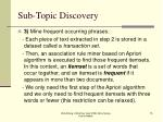 sub topic discovery75