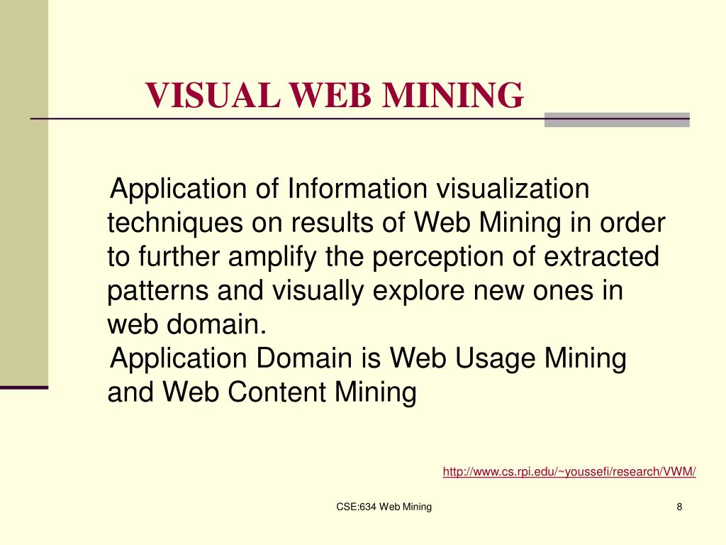 VISUAL WEB MINING