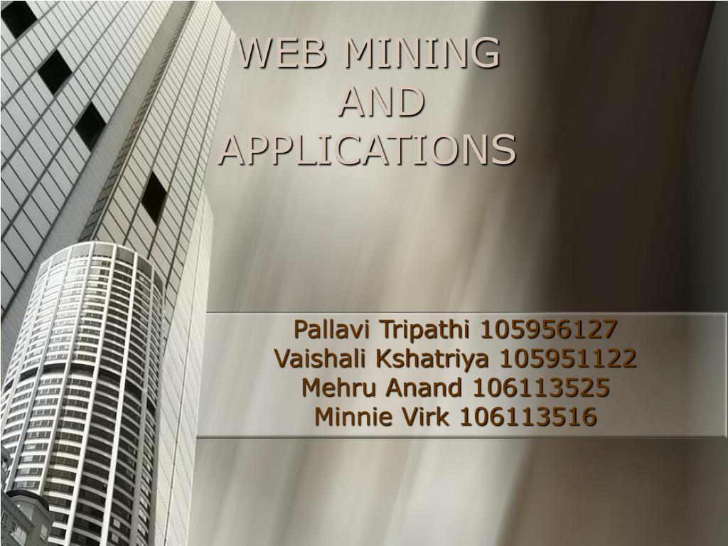 web mining and applications