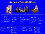 access possibilities