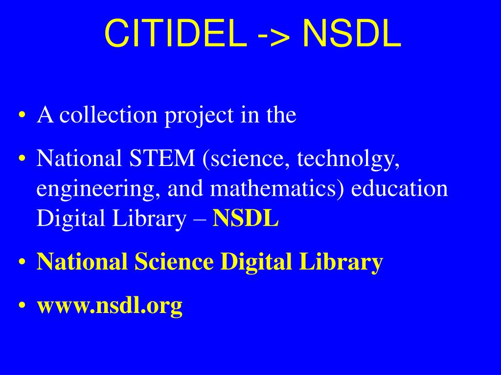 CITIDEL -> NSDL