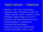 digital libraries objectives