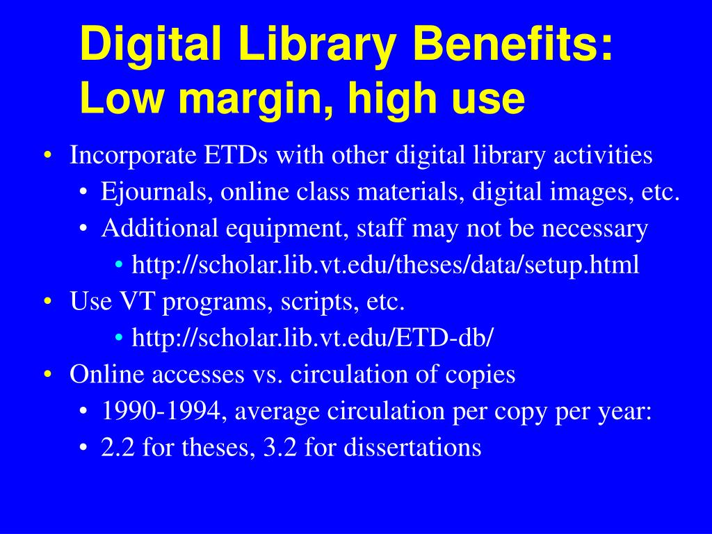 Digital Library Benefits:
