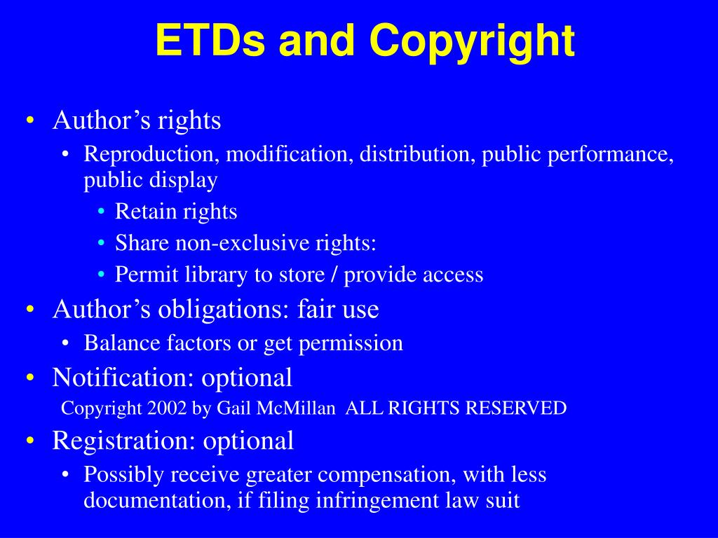 ETDs and Copyright