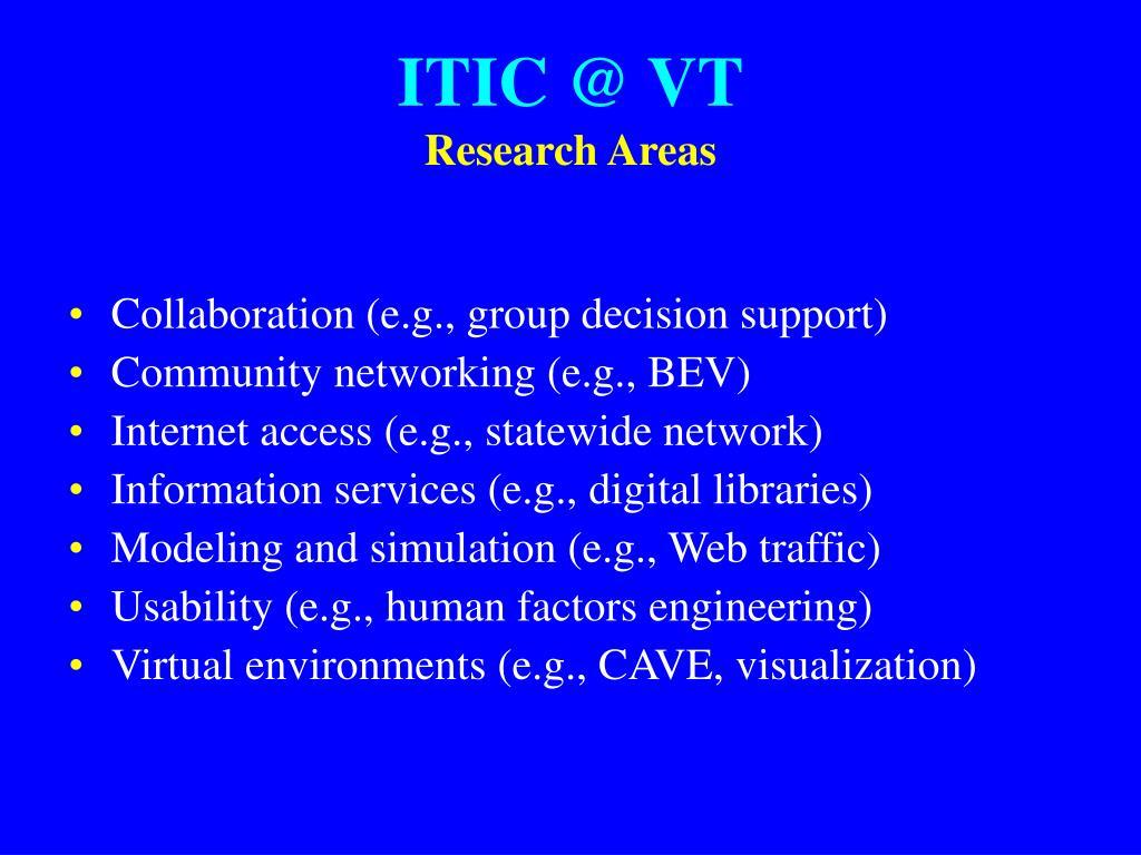 ITIC @ VT