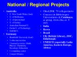 national regional projects